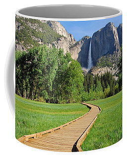 Boardwalk To Yosemite Falls  Coffee Mug