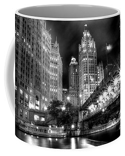 Boat Along The Chicago River Coffee Mug