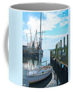 Boat At Dock By Jan Marvin Coffee Mug