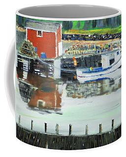 Boat At Louisburg Ns Coffee Mug