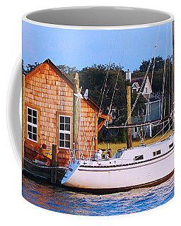Boat At Shem Creek By Jan Marvin Coffee Mug