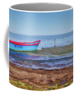 Boat At The Pond Coffee Mug