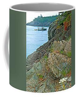 Boat By East Quoddy Bay On Campobello Island-nb Coffee Mug