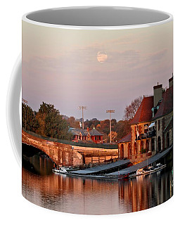 Boat Houses At Dawn Coffee Mug
