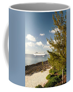 Coffee Mug featuring the photograph Boat In Port by Amar Sheow