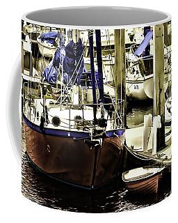 Coffee Mug featuring the painting Boat by Muhie Kanawati