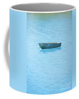 Boat On Blue Lake Coffee Mug