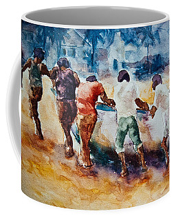 Men At Work Coffee Mug by Jani Freimann