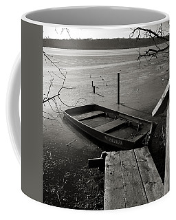 Boat In Ice - Lake Wingra - Madison - Wi Coffee Mug
