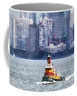 Boat - Tugboat By Manhattan Skyline Coffee Mug