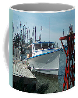 Boat With Light Buoy By Jan Marvin Coffee Mug