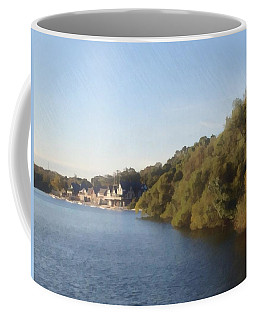 Coffee Mug featuring the photograph Boathouse by Photographic Arts And Design Studio