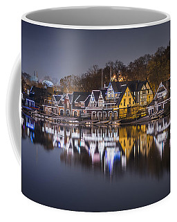 Boathouse Row Coffee Mug by Eduard Moldoveanu
