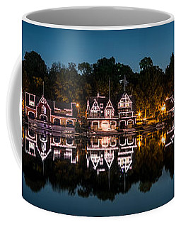 Coffee Mug featuring the photograph Boathouse Row Panorama by Mihai Andritoiu