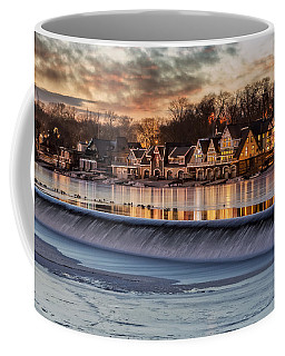 Boathouse Row Philadelphia Pa Coffee Mug by Susan Candelario