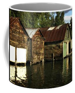 Boathouses On The River Coffee Mug