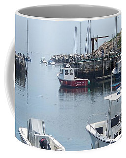 Coffee Mug featuring the photograph Boats On The Water by Eunice Miller