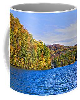 Boating In Autumn Coffee Mug