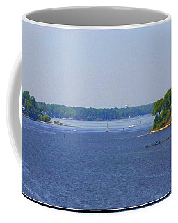 Boating On The Severn River Coffee Mug