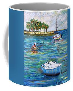 Boats At St Petersburg Coffee Mug