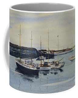 Boats In A Harbour Coffee Mug