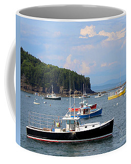 Boats In Bar Harbor Coffee Mug