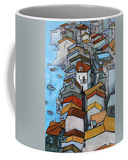 Boats In Front Of The Buildings Iv Coffee Mug