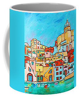 Boats In Front Of The Buildings Vii Coffee Mug by Xueling Zou