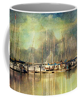Boats In Harbour Coffee Mug