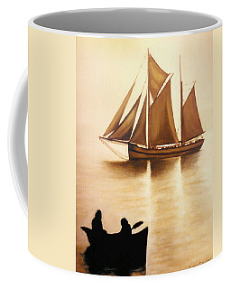 Boats In Sun Light Coffee Mug
