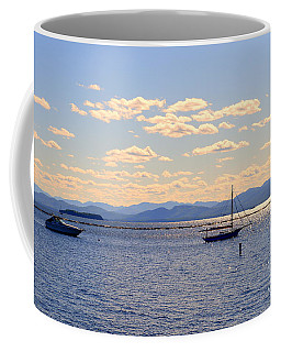 Boats On Lake Champlain Vermont Coffee Mug by Catherine Sherman