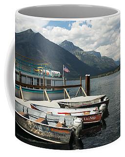 Boats On Lake Mcdonald Coffee Mug