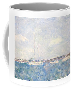 Boats On Lake Michigan In  Chicago Coffee Mug