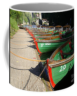 Coffee Mug featuring the photograph Boats Waiting For Kids by Doc Braham