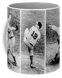 Bob Feller Pitching Coffee Mug