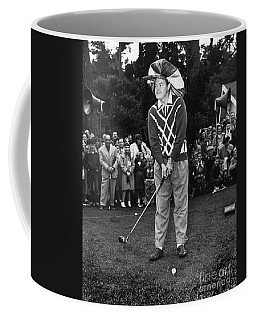 Bob Hope At Bing Crosby National Pro-am Golf Championship  Pebble Beach Circa 1955 Coffee Mug