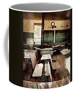 Coffee Mug featuring the photograph Bodie School Room by Lana Trussell