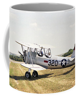 Coffee Mug featuring the photograph Boeing Stearman by Paul Gulliver
