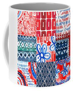 Boho Americana- Patchwork Painting Coffee Mug