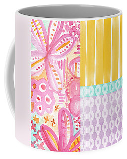 Pink And Purple Flowers Coffee Mugs