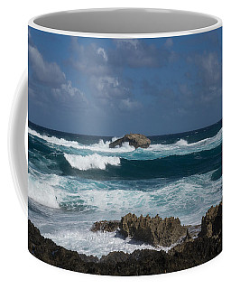 Boiling The Ocean At Laie Point - North Shore - Oahu - Hawaii Coffee Mug by Georgia Mizuleva