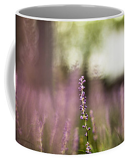 Bokeh With Purple Wildflower Coffee Mug