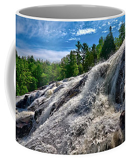 Coffee Mug featuring the photograph Bond Falls   by Lars Lentz