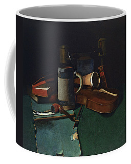 Books Mug Pipe And Violin Coffee Mug