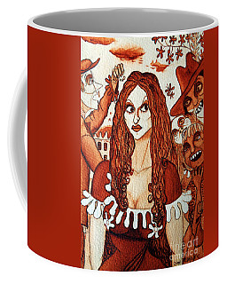 Coffee Mug featuring the painting Boor People And Girl by Don Pedro De Gracia