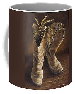 Boots And Wheat Coffee Mug
