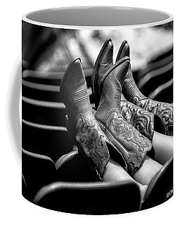 Boots Up - Bw Coffee Mug