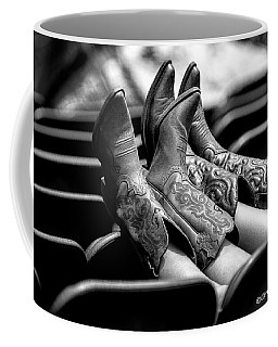 Boots Up - Bw Coffee Mug by Christopher Holmes