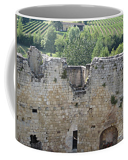 Bordeaux Castle Ruins With Vineyard Coffee Mug by HEVi FineArt