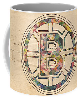 Boston Bruins Poster Art Coffee Mug